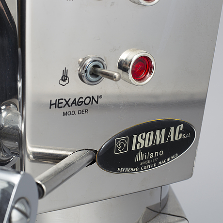 An italian espresso machine, 'isomac hexagon'.