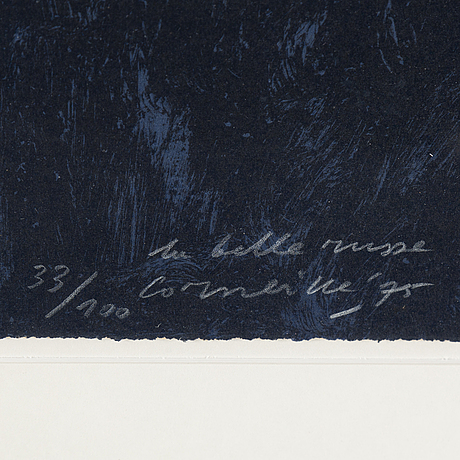 Beverloo corneille, lithograph in colours, 1975, signed 33/100.