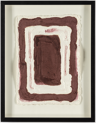 Bram bogart, etching with carborundum, signed and numbered 33/33.