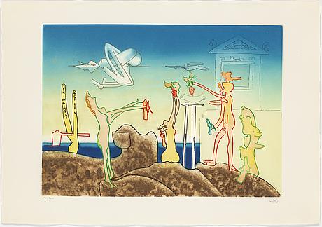 Roberto matta, portfolio with 10 etchings in colour, 1975, signed 59/125.