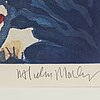 Two signed aquatint and etchings by malcolm morley.
