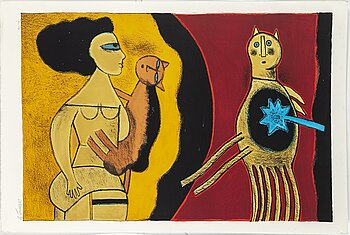 BEVERLOO CORNEILLE, lithograph in colours, 1999, signed and numbered 170/200.