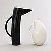 Kati tuominen-niittylÄ. two ceramic 'storybirds' jugs by arabia, finland.