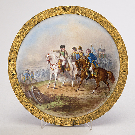 A french porcelain painting from latter half of the 19th century.