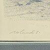 Roland svensson, lithograph in colours, signed hc xlv/l.