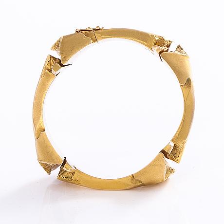 "BjÖrn weckstrÖm, armband, ""charisma"", 14k guld, lapponia 1974."