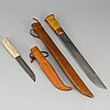 Two sami knives, one janne marttiini.
