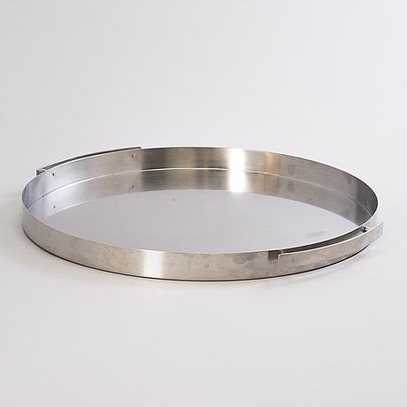 Arne jacobsen, a stainless steel tray. denmark.
