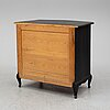 A painted chest of drawers, late 20th century.
