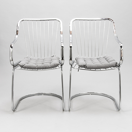 Willy rizzo, 4 chairs for cidue, italy.