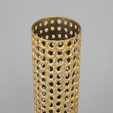 Pierre forssell, a brass lamp from skultuna, 1978.