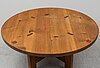 A second half of the 20th century pine dining table by roland wilhelmsson.