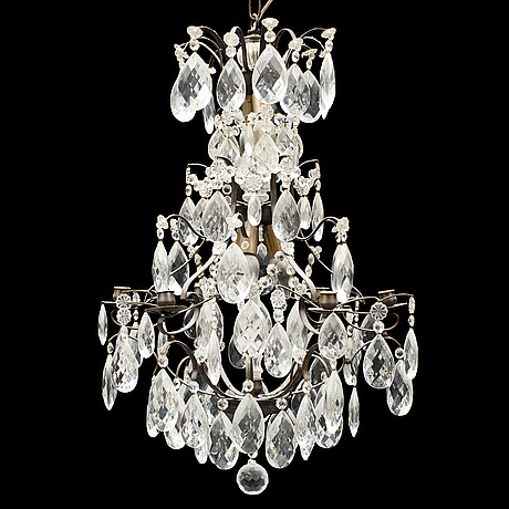 A rococo style chandelier, late 20th century.