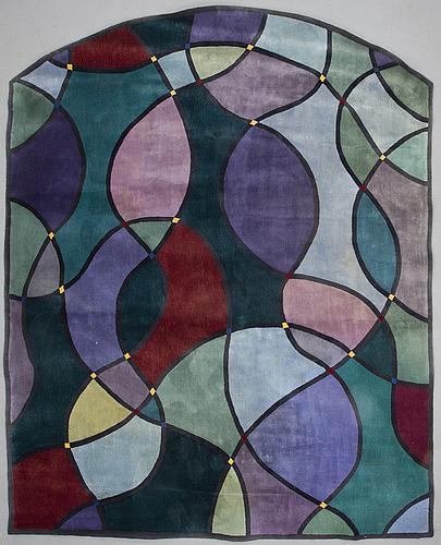 """A carpet, """"handtillverkad golvmatta"""", tufted, gunilla lagerhem ullberg, kasthall, ca 310,5-365 x 291,5 cm."""
