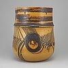Lisa larson, a stoneware vase, gustavsberg studio.