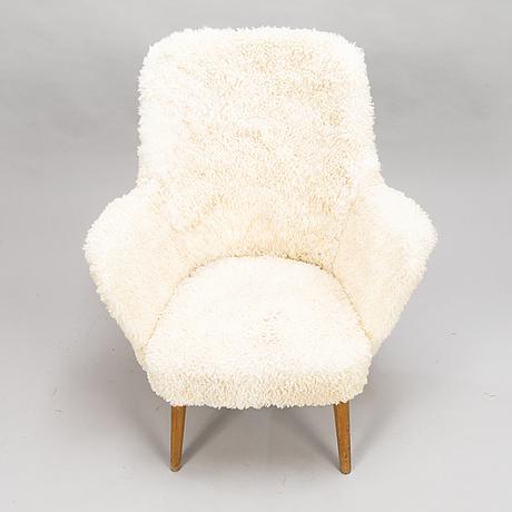 Carl gustaf hiort af ornÄs, a 1950s 'pedro' armchair for puunveisto oy - träsnideri ab.