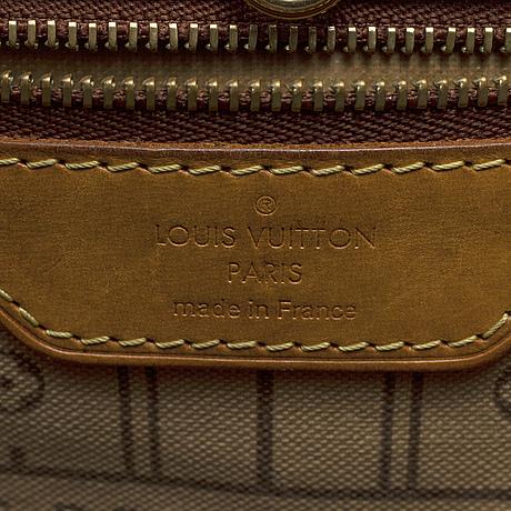 Louis vuitton, a 'neverfull mm' monogram canvas bag.