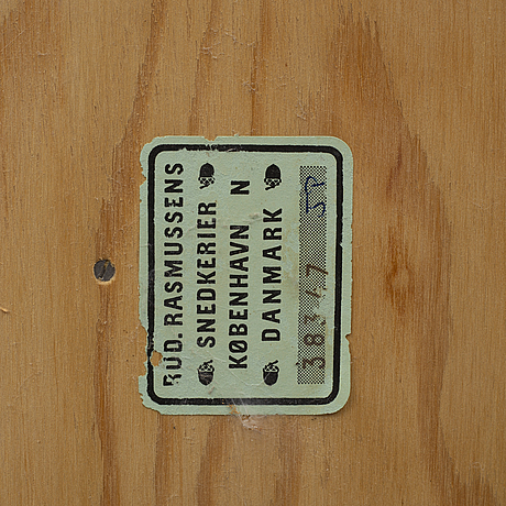 A mid 20th century pine shelf by mogens koch, rud rasmussens.
