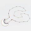 A david andersen sterling silver and enamel necklace.