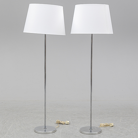 A pair of chrome standard lights from bergbom.
