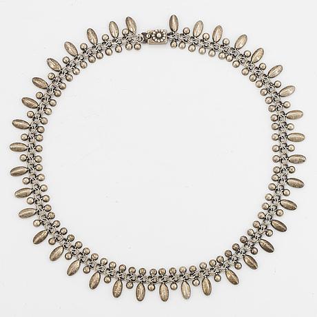 Hermann siersbol, sterling silver necklace. denmark.