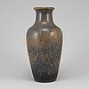 Gunnar nylund, a stoneware vase, rörstrand, signed.