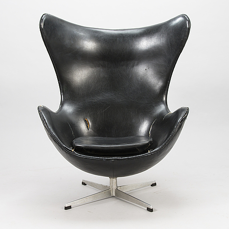 "Arne jacobsen,  fåtölj, ""Ägget/ the egg chair"", arne jacobsen, fritz hansen, danmark 1960-tal."