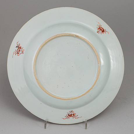 Nine export porcelain plates and dish, qing dynasty, 19th century.