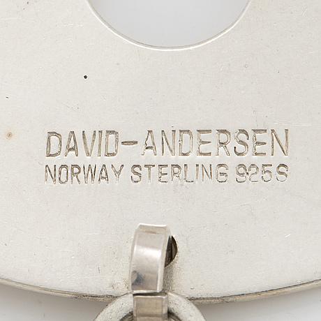 A david andersen, pendant, sterling silver.