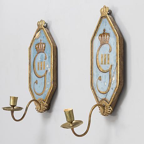 SeinÄlampettipari, kustavilainen, 1700-luvun loppu.