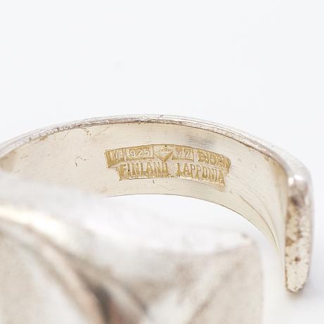 A björn weckström ring,  'darinas tear', silver, acrylic. lapponia 1974.