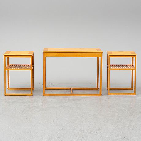 """Carl malmsten, satsbord, 3 delar, """"släden"""", jubileumsmodell 1988 nr 478."""