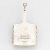 David andersen, sterling silver and enamel pendant.