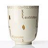 "Wilhelm kåge, a ""cintra"" bone china vase, gustavsberg, sweden ca 1938."