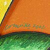 Beverloo corneille, multiple, 2002, signerad ea 1/4.