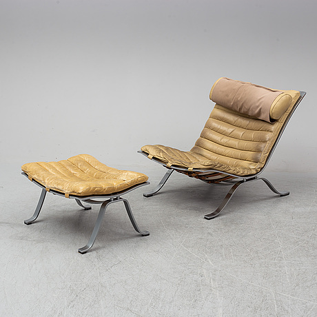 A 'ari' easy chair and ottoman by arne norell.