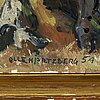 Olle hjortzberg, olja på duk, signerad och daterad -54.