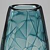 Vicke lindstrand, a 'colora', glass vase, kosta, 1960s.