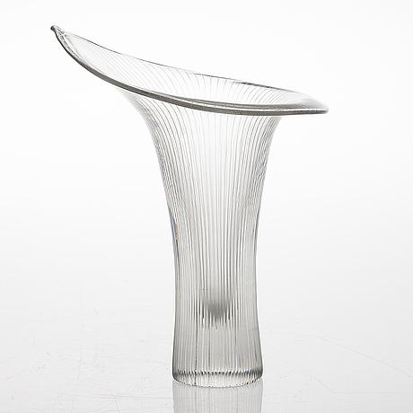 Tapio wirkkala, a vase signed tapio wirkkala iittala.