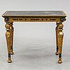 A late gustavian console table, early 19th century.