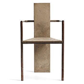 """1008. Jonas Bohlin, a """"Concrete"""" armchair, Källemo, Värnamo, Sweden 1981."""