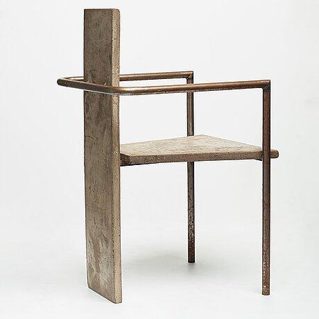 """Jonas bohlin, a """"concrete"""" armchair, källemo, värnamo, sweden 1981."""