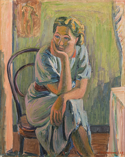 Sam vanni, sitting girl.