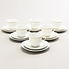 Friedl holzer-kjellberg, a 24-piece porcelain tea and coffee set signed arabia f.h.kj. finland.
