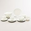 Friedl holzer-kjellberg, a 24-piece porcelain tea and coffee set signed arabia f.h.kj. finland.