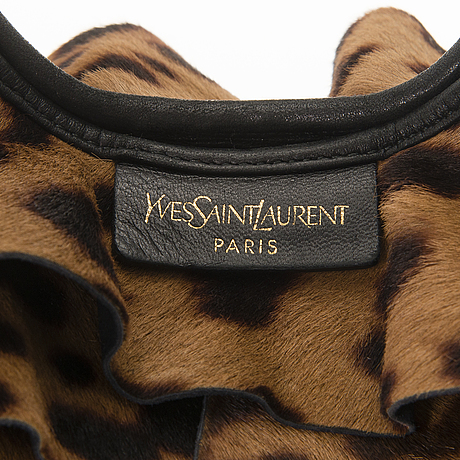 Yves saint laurent pony hair st. tropez bag.