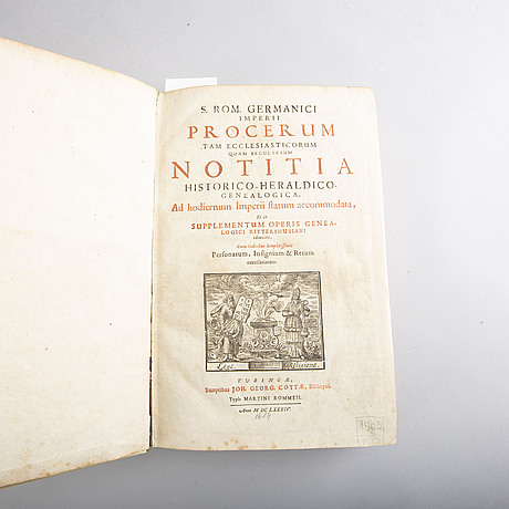 Book- two titles in one volume, jacob wilhelm imhof tübingen 1684 och nicolai rittershusi 1674.
