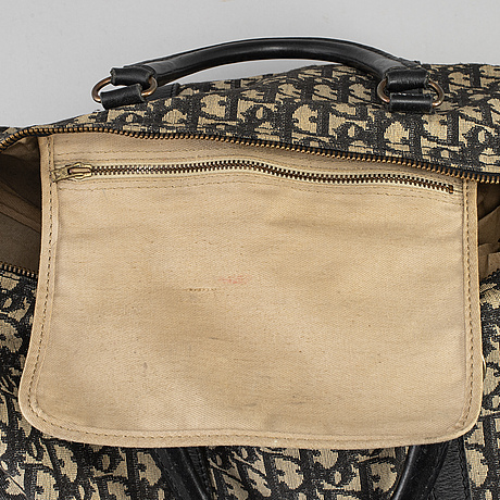 Christian dior, a 'speedy' canvas bag.