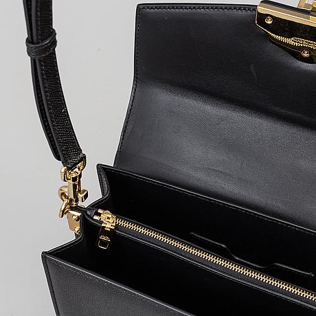 Dolce & gabbana, a 'lucia' calf leather hand bag.