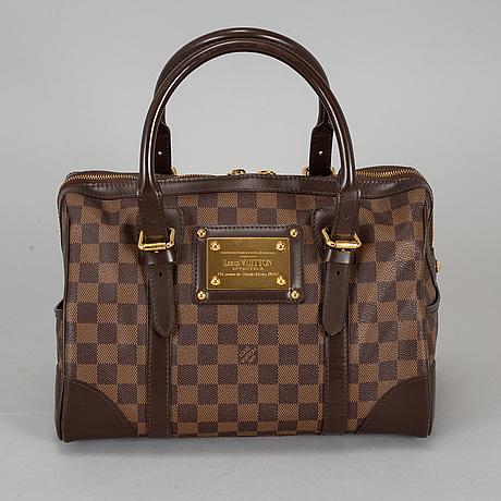 Louis vuitton, a damier ebene 'berkeley' handbag.